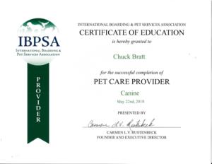 IBPSA Certificate to Chuck Bratt