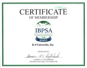 K-9 University Dog Grooming & Dog Boarding Certificate